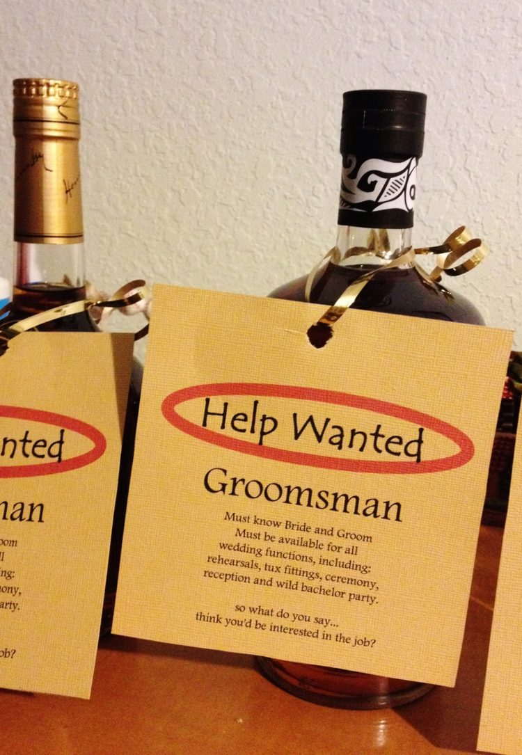 Tipful Tuesday: Will You Be My Groomsman?