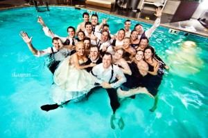 Wedding pool party